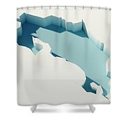 Costa Rica Simple Intrusion Map 3d Render Shower Curtain