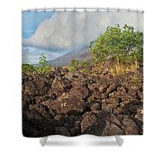 Costa Rica Volcanic Rock II Shower Curtain