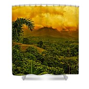 Costa Rica Volcano Shower Curtain