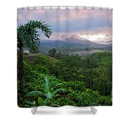Costa Rica Volcano View Shower Curtain