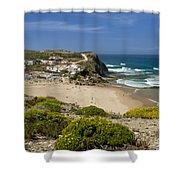 Costa Vicentina Village Shower Curtain