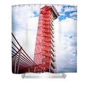 Cota Towering Tower  Shower Curtain