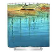 Cote D'azur Harbor Boats Shower Curtain