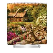 Cottage - There's No Place Like Home Shower Curtain