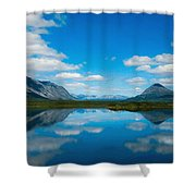 Cottage At Lake  Shower Curtain