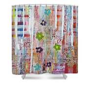 Cottage Flower Garden Shower Curtain