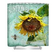 Cottage Garden - Sunflower Standing Tall Shower Curtain