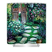 Cottage Gates Shower Curtain