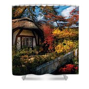 Cottage - Grannies Cottage Shower Curtain by Mike Savad