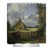 Cottage In A Cornfield Shower Curtain