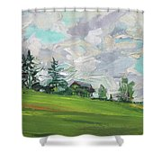 Cottage On The Hill Shower Curtain