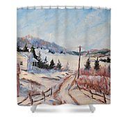 Cottage Road Shower Curtain