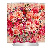 Cottage Roses Shower Curtain