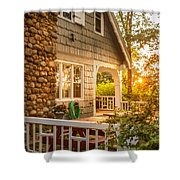 Cottage Sunset In Deep Cove, Nova Scotia Shower Curtain