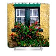 Cottage Window, Co Antrim, Ireland Shower Curtain