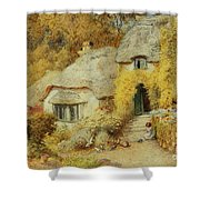 Cottages At Selworthy, Somerset Shower Curtain