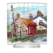 Cottages In Runswick Bay Shower Curtain