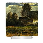 Cottages On The Dachau Marsh 1902 Shower Curtain