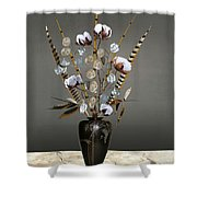 Cotton, Bamboo, And Devil's Ivy Shower Curtain