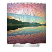Cotton Candy Clouds At Skaha Lake Shower Curtain