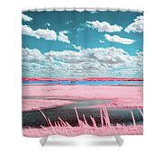Cotton Candy Marsh Shower Curtain