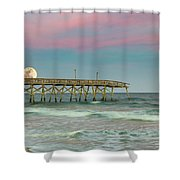 Cotton Candy Moonrise Shower Curtain