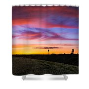 Cotton Candy Sunrise Over The Galt Shower Curtain
