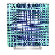 Cotton Field Abstract Shower Curtain