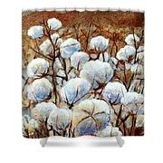 Cotton Fields Shower Curtain