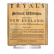 Cotton Mather, 1693 Shower Curtain by Granger