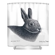 Eastern Cottontail Rabbit Shower Curtain