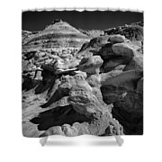 Cottonwood Creek Strange Rocks 6 Bw Shower Curtain