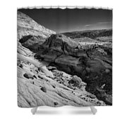 Cottonwood Creek Strange Rocks 7 Bw Shower Curtain