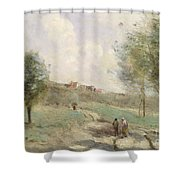 Coubron Ascending Path Shower Curtain