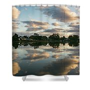 Couds At Sunrise Shower Curtain