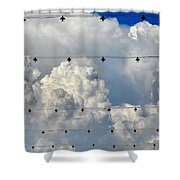 Couds With Lights Shower Curtain