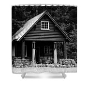 Cougar Rock Gas Station Shower Curtain