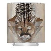 Cougar Shower Curtain by Sassan Filsoof