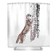 Cougars Tree Shower Curtain
