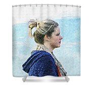 Country Angel - Paint Fx Shower Curtain