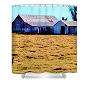 Country Barn And Shed Shower Curtain