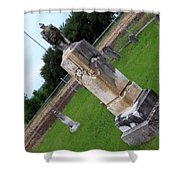 Country Cemetery Shower Curtain