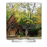 Country Chapel Shower Curtain