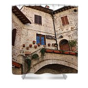 Country Charm Assisi Italy Shower Curtain