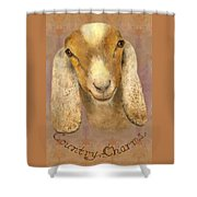 Country Charms Nubian Goat With Bright Eyes Shower Curtain