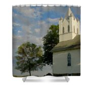 Country Chuch Shower Curtain