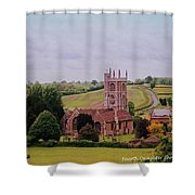 Country Church Wadsworth, England Shower Curtain