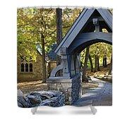 Country Churchyard Shower Curtain