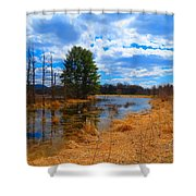 Country Clouds Shower Curtain