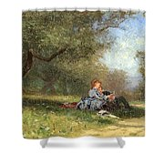 Country Couple Shower Curtain